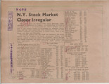 N.Y. Stock Market Closes Irregular