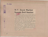 N.Y. Stock Market Spends Dull Session