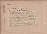 British Anti-Japanese Measures Before P.H.