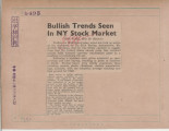 Bullish Trends Seen In NY Stock Market