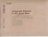 Industrials Advance In NY Stock Mart