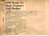 GOP Ready To Slash Truman's 1949 Budget